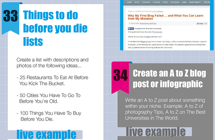 Are You A Blogger Who Runs Out Of Ideas? Then This Post Is For YOU! An Infographic