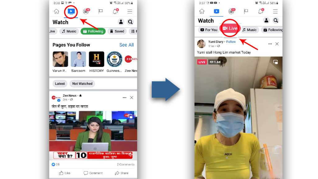 Where to find Facebook Watch On Mobile?