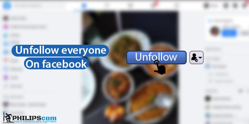 facebook unfollow