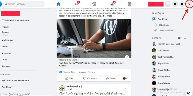 Facebook Unfollow Setting