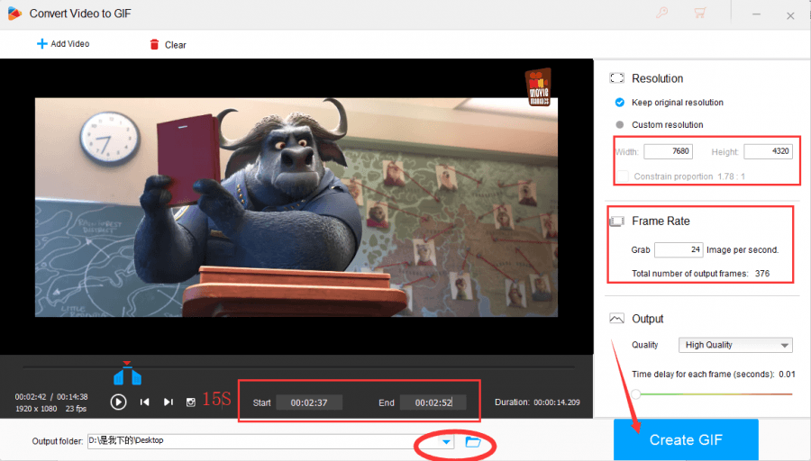 "Choose a way to add video in MP4 format, then click the ""Output Format"" button and choose output format—XVID"