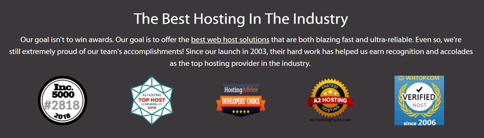 A2 hosting best hosting service provider